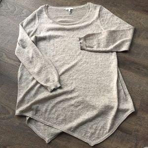 Joie Tambrel Asymmetric Thin Knit Cream Gold Sweat